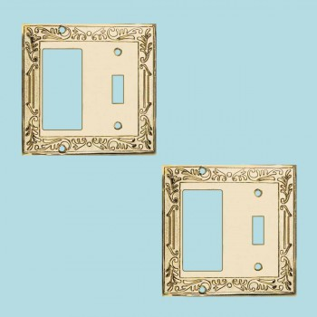 2 Victorian Switch Plate GFI Toggle PVD Solid Brass Switch Plate Wall Plates Switch Plates