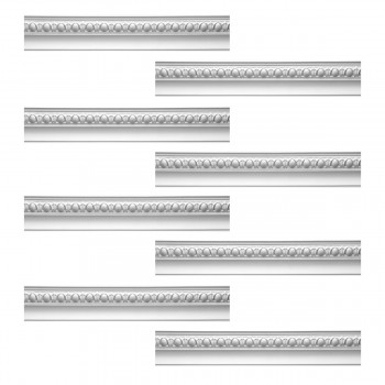 <PRE>Renovator's Supply Cornice White Urethane Hayes Ornate Design 8 Pieces Totaling 752inch Length</PRE>zoom1