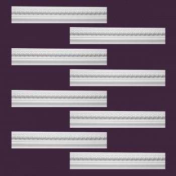 <PRE>Renovator's Supply Cornice White Urethane Jefferson Ornate Design 8 Pieces Totaling 758inch Length</PRE>zoom2
