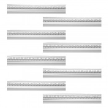 <PRE>Renovator's Supply Cornice White Urethane Jefferson Ornate Design 8 Pieces Totaling 758inch Length</PRE>zoom1
