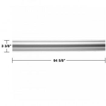 "spec-<PRE> Cornice White Urethane Hamilton Simple Design 8 Pieces Totaling 757"" Length</PRE>"