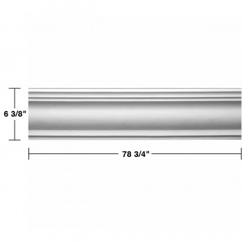 "spec-<PRE>Renovator's Supply Cornice White Urethane Warren Simple Design 8 Pieces Totaling 630"" Length</PRE>"