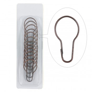 <PRE> Shower Curtain Rod Hooks Antique Copper Finish Set of 24 </PRE>zoom6