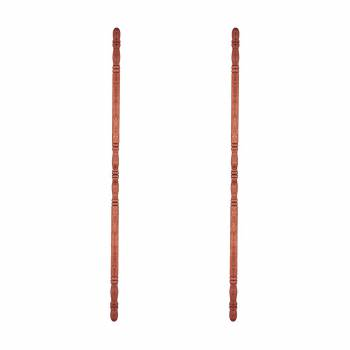 "<PRE>Hardwood Corner Guard 39-1/2inch H x 1"" Dia. 90 Degree Notch Pack of 2</PRE>zoom1"