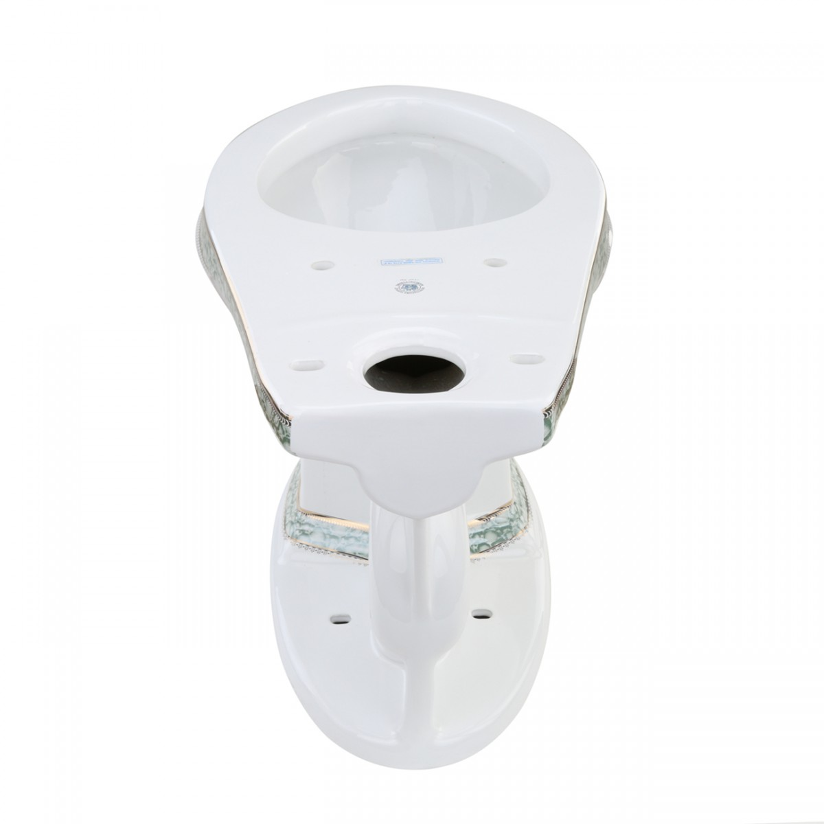 Green and Gold Toilet Bowl for Item 12816