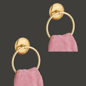 spec-<PRE>Towel Ring Bright Brass 6&quot; D Pack of 2</PRE>