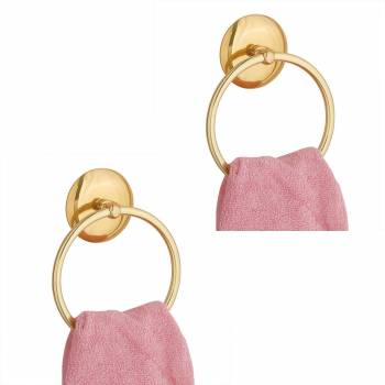 <PRE>Towel Ring Bright Brass 6&quot; D Pack of 2</PRE>