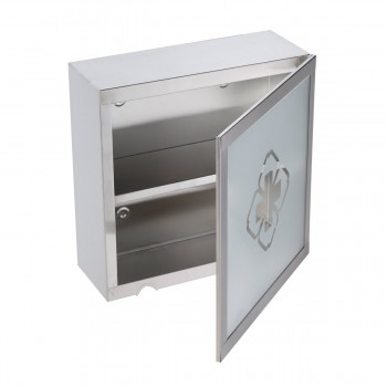 2 Mini Stainless Steel Medicine Cabinet Wall Mount Storage Set of 2 medical recessed large framed storage chest cupboard tall glass inset decorative vintage antique unique narrow washroom
