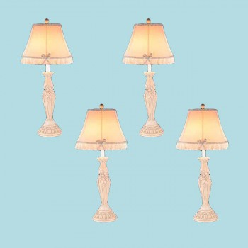 4 Table Lamp Cream Cast Plaster Lamp 22H Lamp Table Lights Lamps