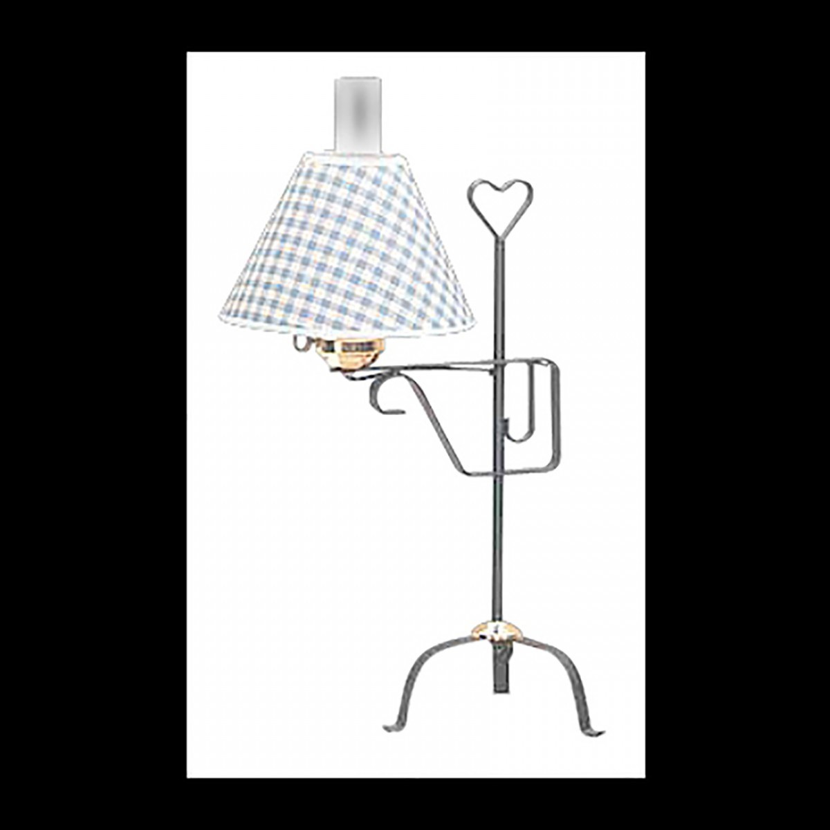 4 Table Lamp Black Wrought Iron Blue Shade Lamp Table Lights Lamps