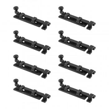 Black Wrought Iron  Cabinet or Door Slide Bolt 4