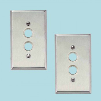 2 Switchplate Brushed Stainless Steel 1 Pushbutton Switch Plate Wall Plates Switch Plates