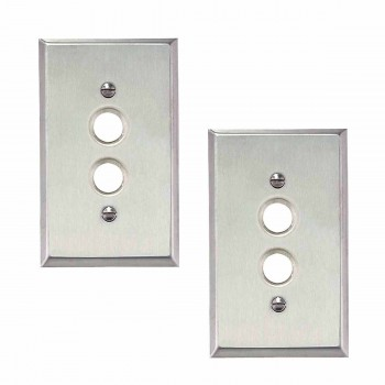 <PRE>2 Switchplate Brushed Stainless Steel 1 Pushbutton </PRE>zoom1