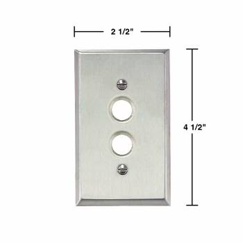 spec-<PRE>2 Switchplate Brushed Stainless Steel 1 Pushbutton </PRE>
