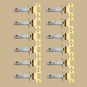<PRE>12 Privacy Door Knob Latch Sets Reversible Gold PVD 2 3/8inch </PRE>zoom2