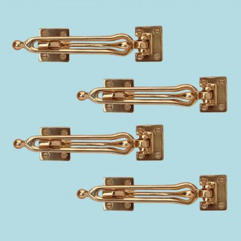 <PRE>4 Door Security Safety Guard Lock Latch Heavy Solid Brass </PRE>zoom2