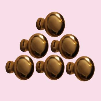 6  Cabinet Knob Black Solid Brass Colonial 1 Dia Cabinet Hardware Cabinet Knobs Cabinet Knob