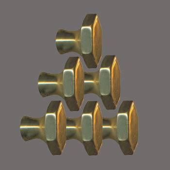 <PRE>6 Cabinet Knob Bright Solid Brass 1inch Dia </PRE>zoom2
