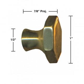 spec-<PRE>6 Cabinet Knob Bright Solid Brass 1&quot; Dia </PRE>