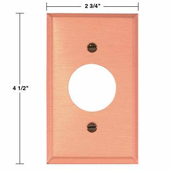 spec-<PRE>2 Switchplate Brushed Solid Copper Single Receptacle </PRE>