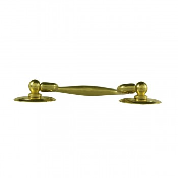<PRE>6 Solid Brass Bail Pulls Classic Ring Rosettes 3inch </PRE>zoom6