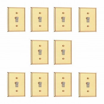 <PRE>10 Switch Plate Bright Solid Brass Single Toggle Dimmer </PRE>zoom1