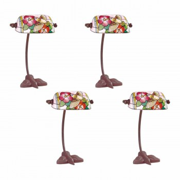 <PRE>4 Table Lamp Bronze Bird  Style Lamp Stained Glass 7.5inch</PRE>zoom1