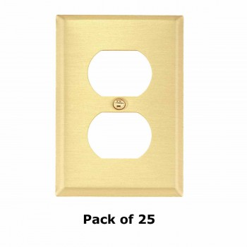 <PRE>25 Switch Plate Brushed Brass Single Outlet </PRE>zoom1