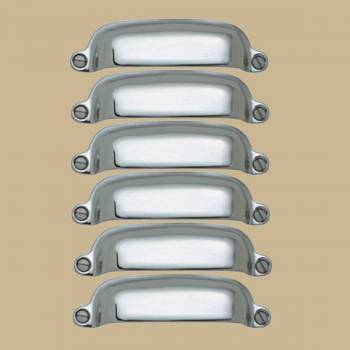 <PRE>6 Cabinet Pull Bright Chrome-Plated Brass</PRE>zoom2
