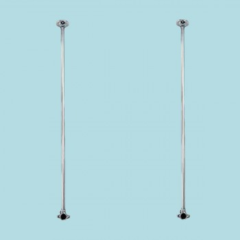 <PRE>2 Shower Surround Chrome Ceiling Brace Only 38inch </PRE>zoom2