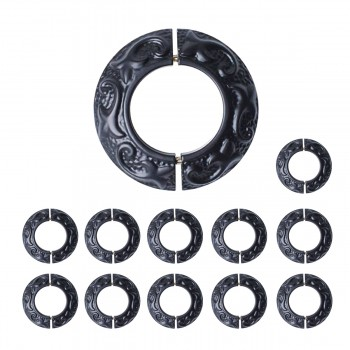 Rustproof Radiator Flange Black Aluminum Powder Coat Collar Pack of 12