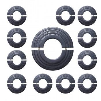 Radiator Flange Black Aluminum Escutcheon 1 11/16 ID Pack of 12