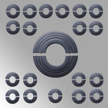 Radiator Flange Black Aluminum Escutcheon 1 11/16 ID Pack of 20