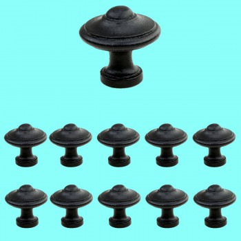 <PRE>Round Black Wrought Iron Cabinet Knob 1.5inch Pack of 10</PRE>zoom2