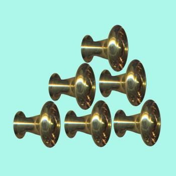 <PRE>6  Cabinet Knob Bright Solid Brass Spooled 1inch Dia </PRE>zoom2