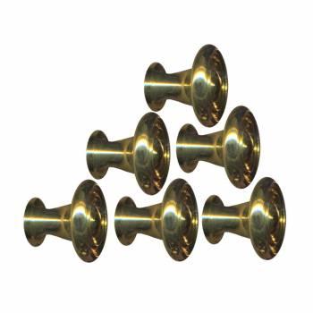 <PRE>6  Cabinet Knob Bright Solid Brass Spooled 1inch Dia </PRE>zoom1