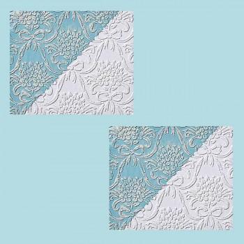 <PRE>2 Wallpapers White Embossed Textured Vinyl Kensington </PRE>zoom2
