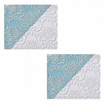 <PRE>2 Wallpapers White Embossed Textured Vinyl Kensington </PRE>zoom1