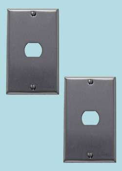 <PRE>2 Switchplate Brushed Stainless Steel 1 Interchang/Despard </PRE>zoom2