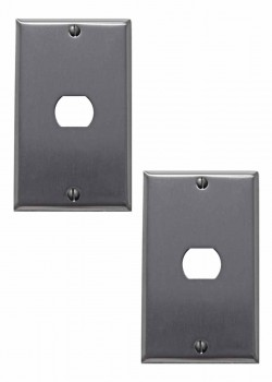 <PRE>2 Switchplate Brushed Stainless Steel 1 Interchang/Despard </PRE>zoom1