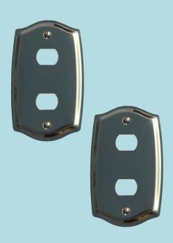 <PRE>2 Switch Plate Solid Brass 2 Despard/Interchange </PRE>zoom2