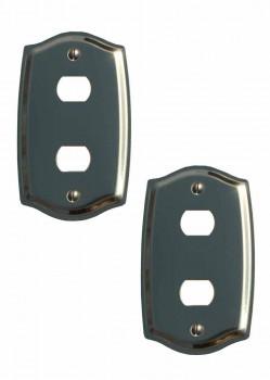 <PRE>2 Switch Plate Solid Brass 2 Despard/Interchange </PRE>zoom1
