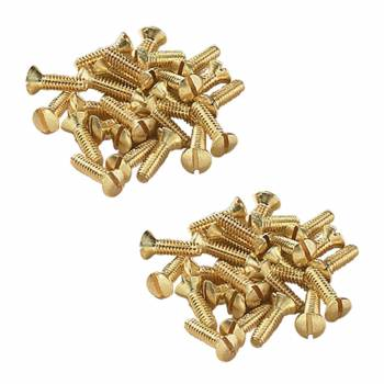 <PRE>Brass Switchplate Screws 6/32 x 1/2inch Slotted Oval Head Set of 50</PRE>zoom1