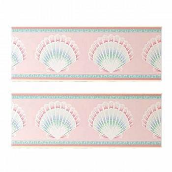2 Rolls Newport Pink Vinyl Wallpaper Border Set of 2