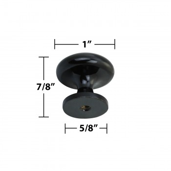 "spec-<PRE>10 Cabinet Knobs 1"" Dia Black Solid Brass Enamel  </PRE>"