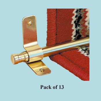 <PRE>Carpet Rod Finials Barrel Solid Brass 1/2in Set of 13 pairs</PRE>zoom2