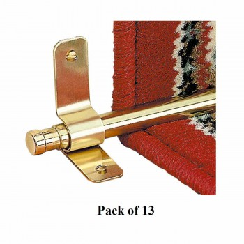 <PRE>Carpet Rod Finials Barrel Solid Brass 1/2in Set of 13 pairs</PRE>zoom1