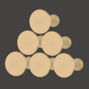 <PRE>1inch Cabinet Knob Classic Brass Set of 6</PRE>zoom2