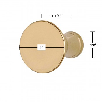 spec-<PRE>1&quot; Cabinet Knob Classic Brass Set of 6</PRE>