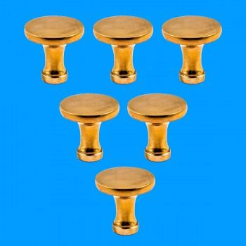 <PRE>6 Cabinet Knob Bright Solid Brass Pedestal 1 1/4inch </PRE>zoom2